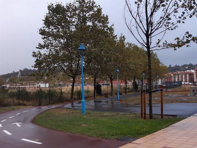 LLuvia en Baracaldo (Vizcaya)