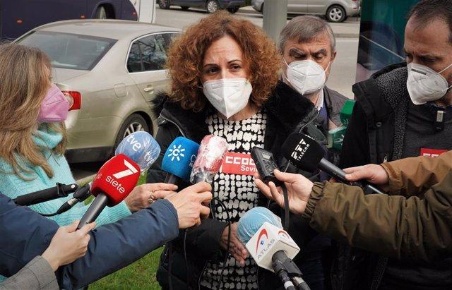 La secretaria general de CCOO-A, Nuria López, en una foto de archivo.