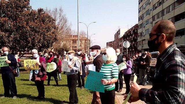 Concentración de la Coordinadora Antiprivatización de la Sanidad (CAS) en Córdoba.