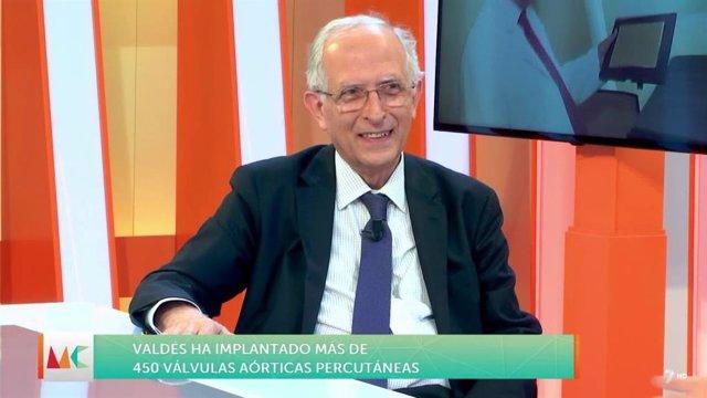 Mariano Valdés en una intervención en la televisión pública