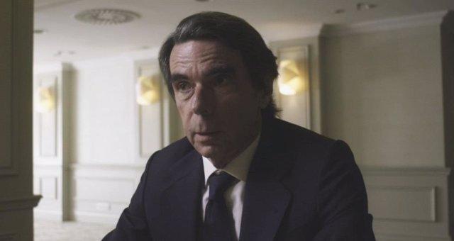 El expresidente del Gobierno José María Aznar, durante una entrevista en La Sexta.