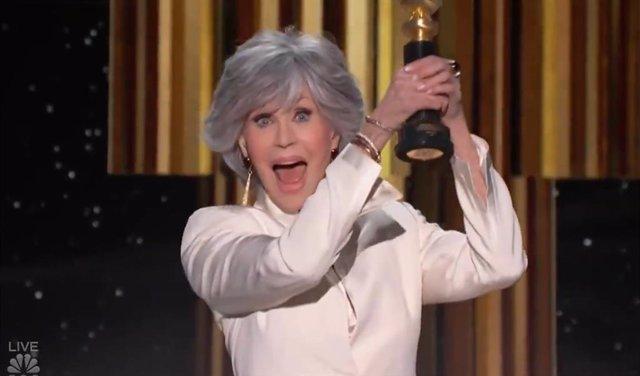 Jane Fonda recoge su premio honorífico en los Globos de Oro 2021