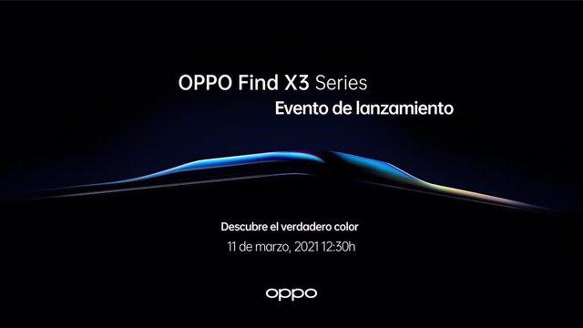 Evento de presentación de Find X3 Pro