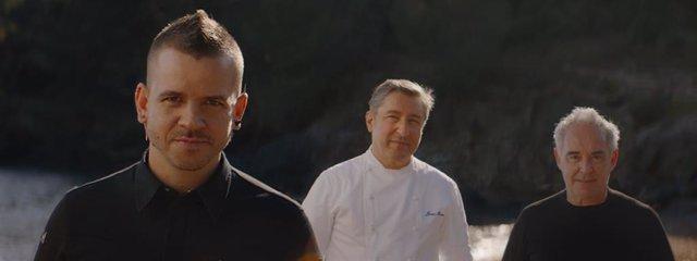 Dabiz Muñor, Joan Roca y Ferran Adrià defienden mantener la calidad del sector en una campaña de Estrella Damm