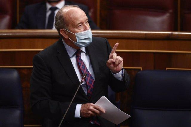 El ministro de Justicia, Juan Carlos Campo, interviene durante una sesión de Control al Gobierno en el Congreso de los Diputados.