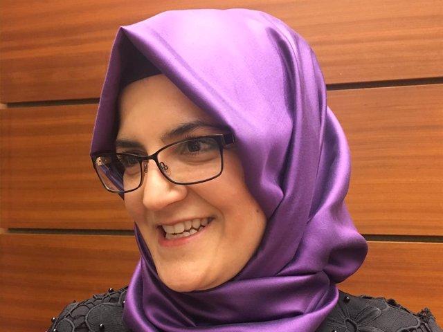Archivo - Hatice Cengiz, pareja sentimental del periodista Yamal Jashogi en el momento de su asesinato en 2018 en el interior del consulado de Arabia Saudí en la ciudad turca de Estambul
