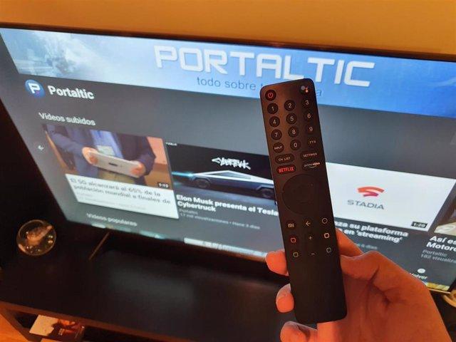 Archivo - Televisor Xiaomi Mi TV 4S de 55 pulgadas probado por Portaltic.