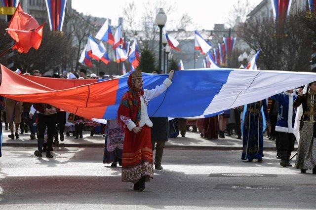 Archivo - Quinto aniversario incorporación Crimea a Rusia
