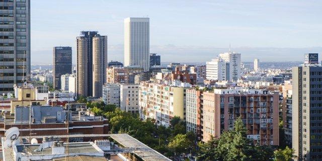 Archivo - Imagen de viviendas de la ciudad de Madrid.