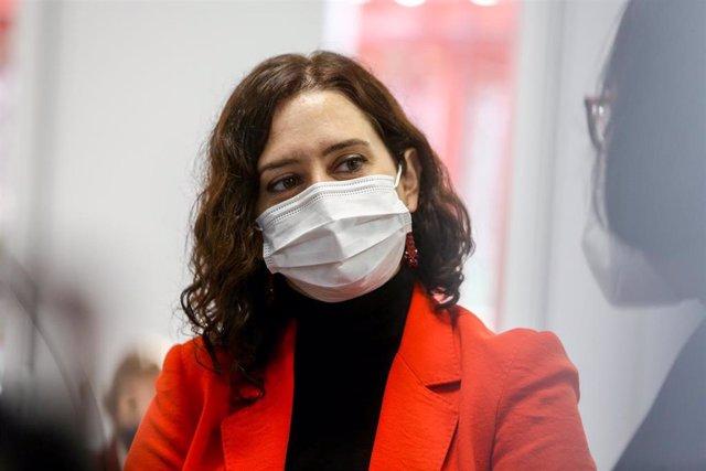 La presidenta de la Comunidad de Madrid, Isabel Díaz Ayuso. Archivo.