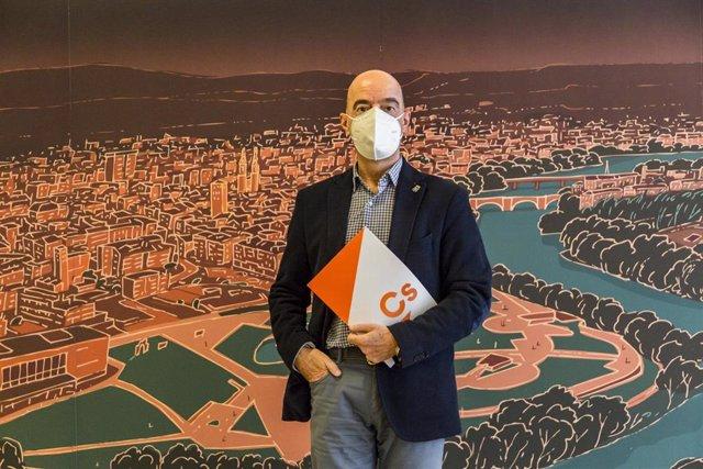 El portavoz del grupo municipal Ciudadanos, Ignacio Tricio
