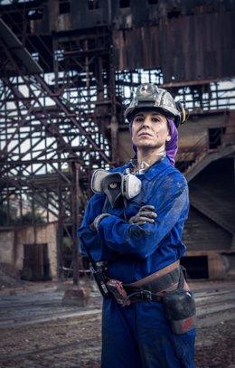 Una de las trabajadoras de la minería onubense.
