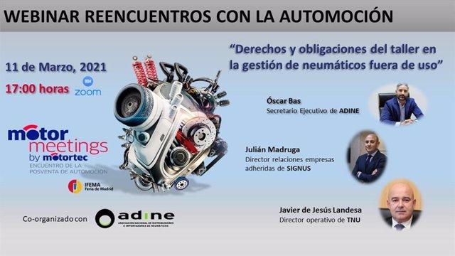 """Webinar """"Derechos y obligaciones del taller en la gestión de neumáticos fuera de uso"""""""