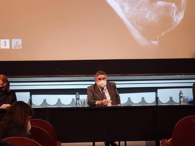 El ministro de Cultura y Deporte, José Manuel Rodríguez Uribes, durante la presentación de la programación del Año Berlanga