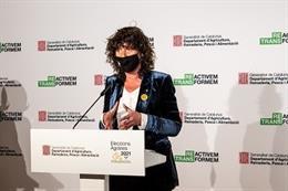 La consellera de Agricultura, Ganadería, Pesca y Alimentación de la Generalitat, Teresa Jordà, este lunes