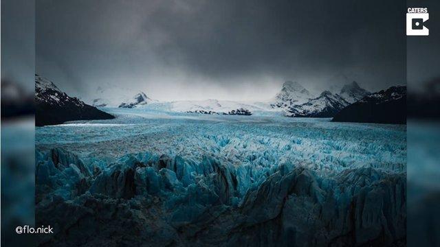 Hipnotizantes imágenes en time-lapse de una formación de nubes sobre un enorme glaciar