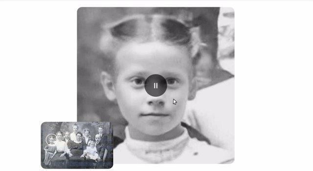 Retratos animados Deep Nostalgia basados en fotografías antiguas, de MyHeritage.