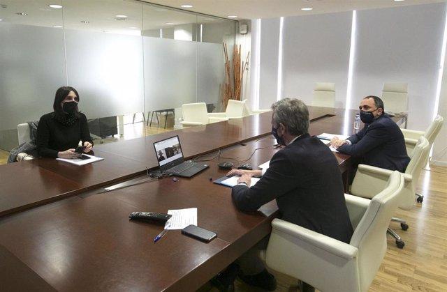 Fotos Xunta /Vicepresidencia Primeira Sanidade Emprego /Videoconferencia Con Representantes De Asociacións De Empresarios De Hostalería E Restauración.