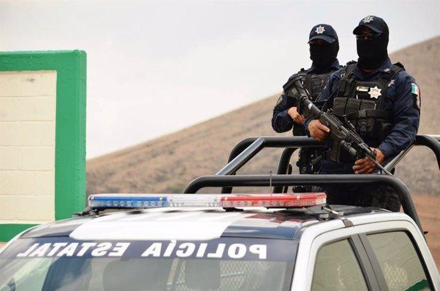 Archivo - Policía estatal de Zacatecas, México