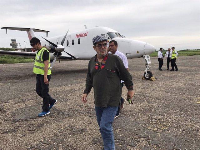 Archivo - Rodrigo Londoño, alias 'Timochenko', es  guerrillero colombiano, comandante del Bloque Magdalena Medio, actual líder y miembro del secretariado de las Fuerzas Armadas Revolucionarias de Colombia-Ejército del Pueblo (FARC-EP)