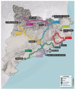 Mapa del recorrido de la Volta Ciclista a Catalunya de 2021