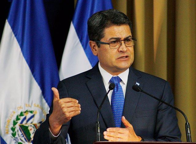 Archivo - El presidente de Honduras, Juan Orlando Hernández