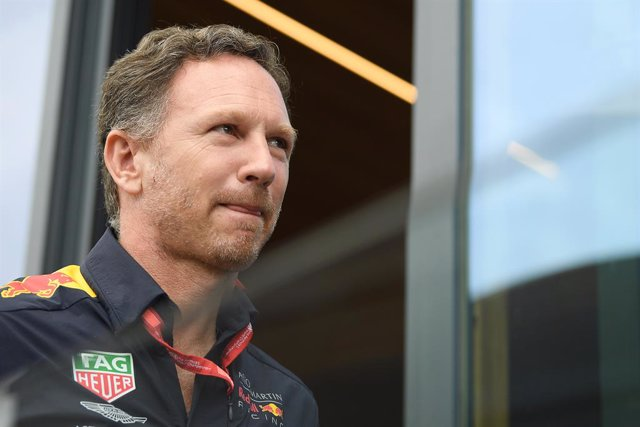 Archivo - FILED - 27 July 2019, Baden-Wuerttemberg, Hockenheim: Christian Horner, team boss of the Red Bull Racing team, pictured during Grand Prix of Germany. Red Bull team principal Christian Horner believes that a Formula One season start behind closed