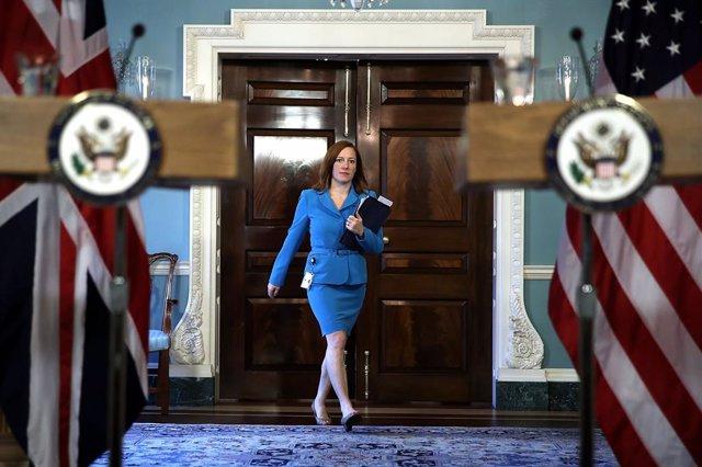 Archivo - Jen Psaki, portavoz Departamento de Estado EEUU