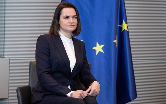 Archivo - La líder opositora bielorrusa Svetlana Tijanovskaya, de visita en Alemania