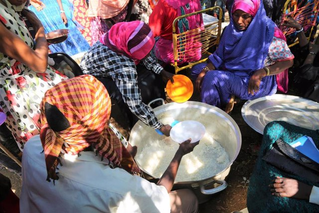 Archivo - Refugiados etíopes en Sudán