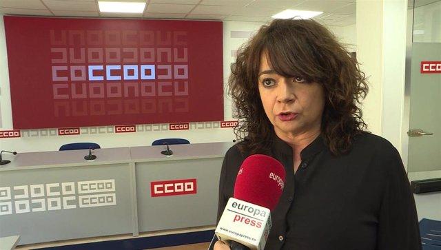 Archivo - La secretaria de Empleo de CCOO, Lola Santillana