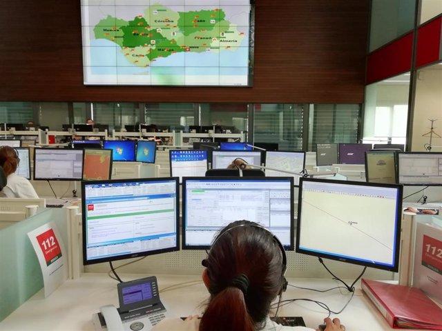 Archivo - Centro Coordinador de Emergencias del 112, en imagen de archivo