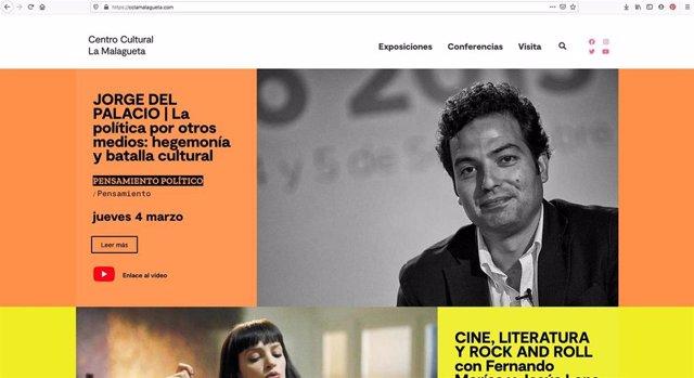 Web del Centro Cultural La Malagueta