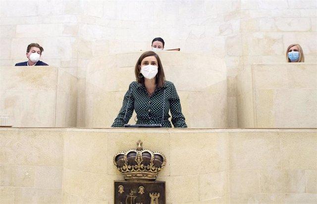 La consejera de Presidencia de Cantabria, Paula Fernández