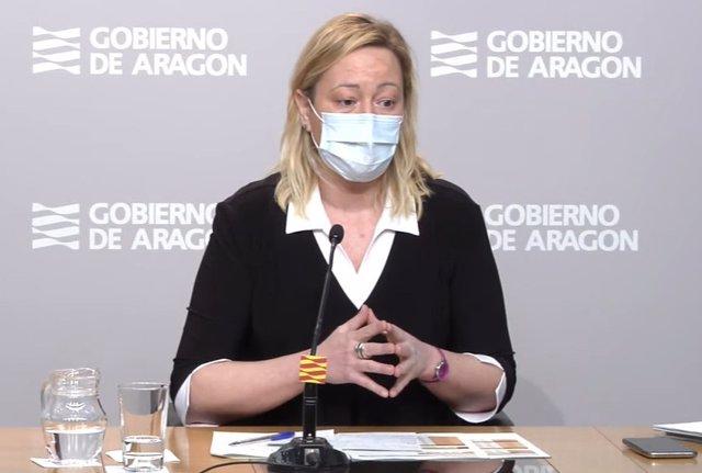 La consejera de Economía, Marta Gastón, en la rueda de prensa de este martes.