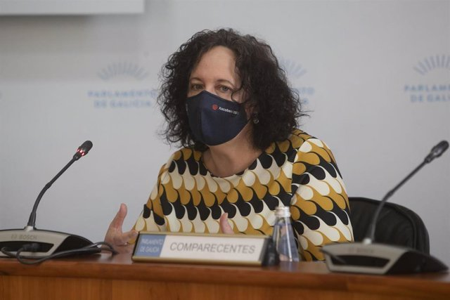 La directora xeral de Pesca, Acuicultura e Innovación Tecnolóxica, Mercedes Rodríguez, en la Comisión 8ª, de Pesca e Marisqueo