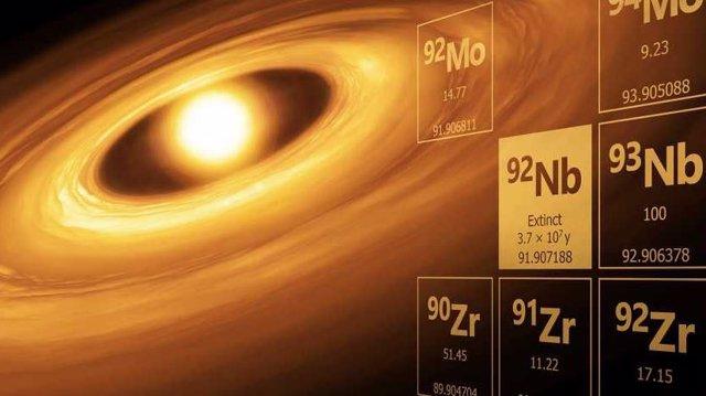 El átomo inestable 92Nb, que desapareció hace mucho tiempo, proporciona información sobre los inicios de nuestro sistema solar.