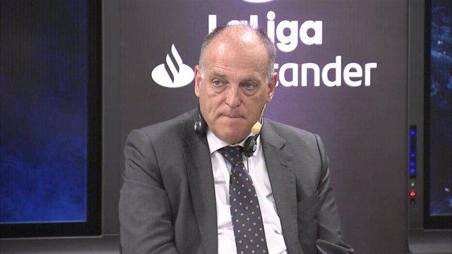 Archivo - El presidente de LaLiga, Javier Tebas