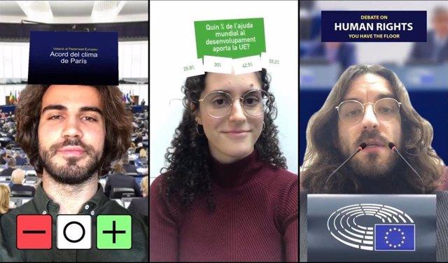 La Oficina del Parlamento Europeo en Barcelona explica la UE y el PE en 11 filtros de Instagram