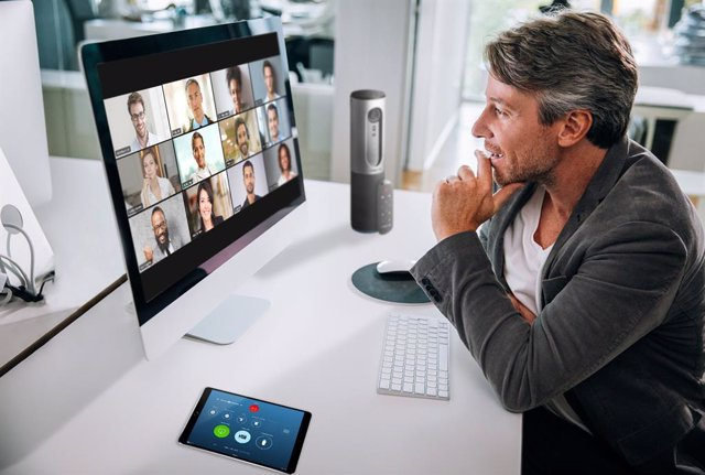 Archivo - Una videoconferencia a través de Zoom