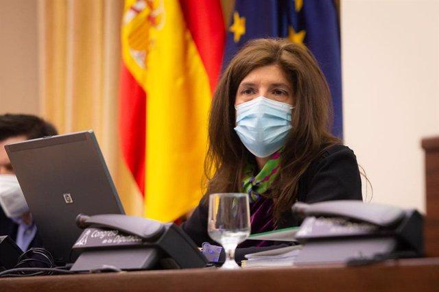 La secretaria de Estado de Cooperación Internacional, Ángeles Moreno Bau, comparece ante la Comisión de Cooperación del Congreso