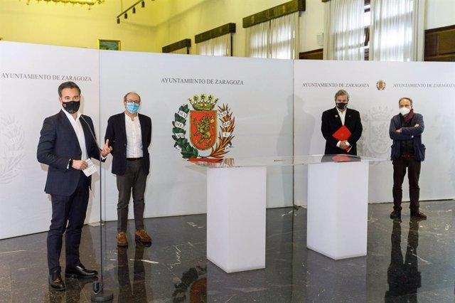 El Área de Urbanismo del Ayuntamiento de Zaragoza impulsado las reformas de los denominados grupos sindicales mediante la firma, con el Colegio Oficial de Arquitectos de Aragón, de un convenio de colaboración para redactar Estudios de Detalle