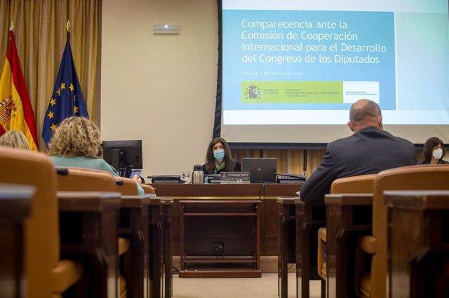 La secretaria de Estado de Cooperación Internacional, Ángeles Moreno Bau, comparece en comisión en el Congreso