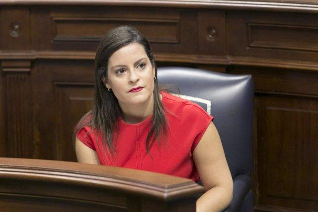 Archivo - La consejera de Turismo, Industria y Comercio del Gobierno de Canarias, Yaiza Castilla