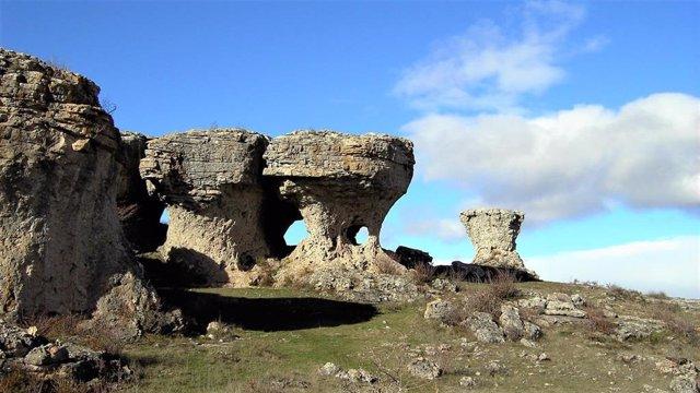 Imagen de un rincón de Las Tuerces, incluido en el geoparque Las Loras.