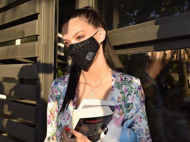Archivo - Alejandra Rubio llega a su casa después de asistir al programa