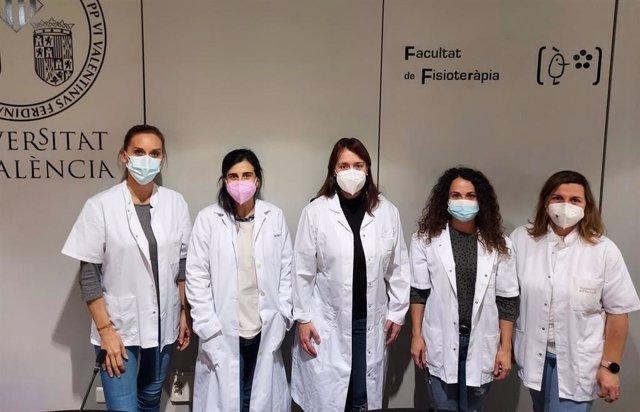 Investigadoras de la UV Laura Lopez, Inmaculada Aparicio, Lirios Duenas, Merce Balasch y Anna Arnal