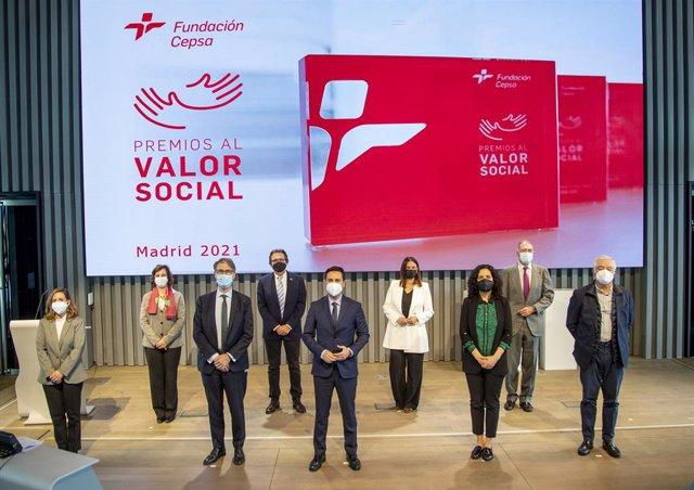 Entrega de los Premios al Valor Social de Cepsa en la Torre Cepsa de Madrid