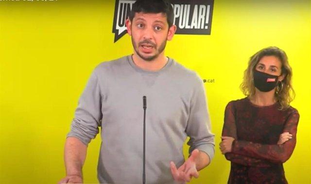 Els diputats electes de la CUP Xavier Pellicer i Laia Estrada.