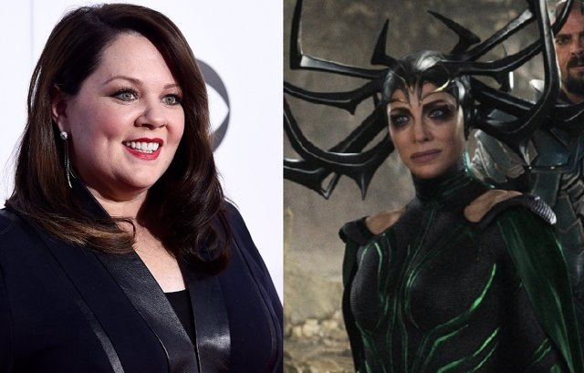 Melissa McCarthy y Hela en Thor: Love and Thunder